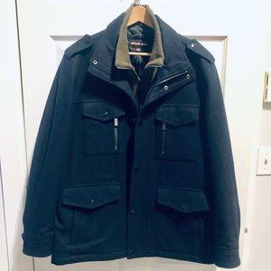 Michael Kors Wool Layered Look Coat
